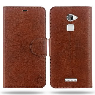 Cool Mango Compact Flip Cover for CoolPad Note 3 Lite (Mocha Brown)