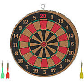 Dart Board 16 inch doubled Sided game set with 3 darts