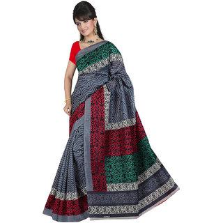 Lovely Look Grey Printed Saree LLKGPS5157