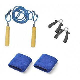 Body Maxx Fitness Kit, Hand grippers + rope + Bands