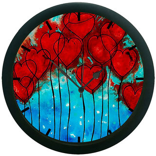 AE World Many Heart 3D Wall Clock (With Glass)