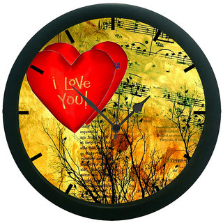 AE World Heart 3D Wall Clock (With Glass)