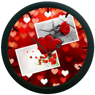 AE World Heart  Rose 3D Wall Clock (With Glass)