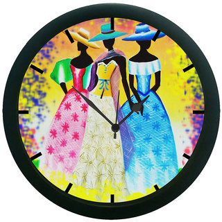 AE World Hat Girls Wall Clock (With Glass)