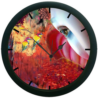 AE World Forest Eye 3D Wall Clock (With Glass)