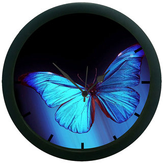 AE World Butterfly 3D Wall Clock (With Glass)