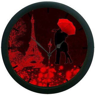 AE World Eiffel tower 3D Wall Clock (With Glass)