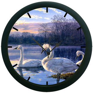 AE World Abstract 3D Wall Clock (With Glass)