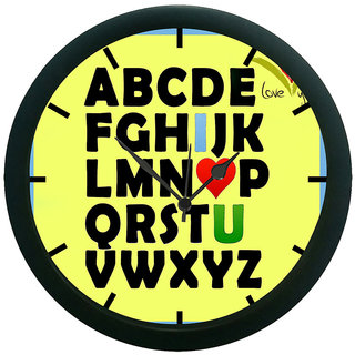 AE World ABC 3D Wall Clock (With Glass)