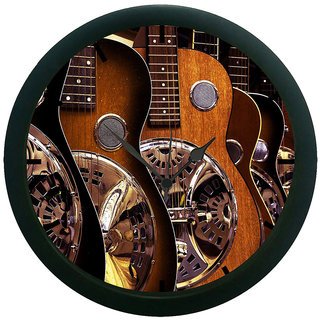 AE World Guitar 3D Wall Clock (With Glass)