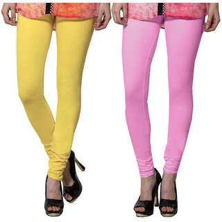 Both11 Multi Color Cotton Lycra Casual Legging (Set Of 2) (B11-DB-3-11)