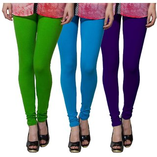 Both11 Multi Color Cotton Lycra Casual Legging (Set Of 3) (B11-TP-6-7-15)