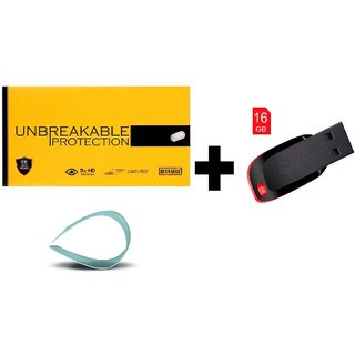 Unbreakable Tempered Glass For Oneplue 2(Combo 2)With 16GB PENDRIVE