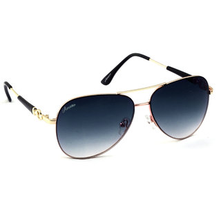 SunglassesAmaze Unisex Double Gradient Aviator In Full Metal Frame  Uv Protection Am1850-C01