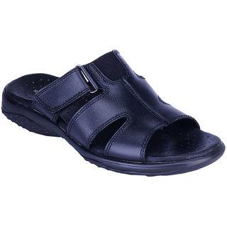 8327b252e1a Buy Khadims British Walkers Black Leather Slip-on Mens Sandal Online ...