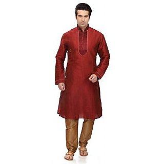 RG Designers Maroon Kurta pyjama Set