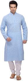 RG Designers Aqua Blue Kurta pyjama Set