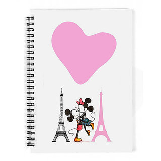 The Fappy Store Mickey Mouse And Minnie Love In Paris Notebook