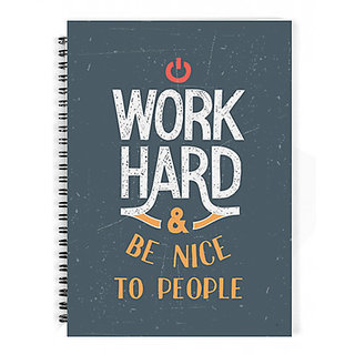The Fappy Store Work Hard  Be Nice To People Notebook