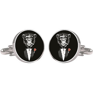 CuffTank Cufflinks Smoking Monkey
