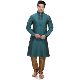 RG Designers Rama Green Kurta pyjama Set