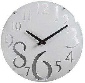 Aapno Rajasthan White Beautiful Huge Numeral Wall Clock