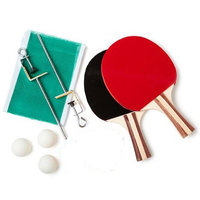 ONE PAIR OF TABLE TENNIS RACKETS+ 3 BALLS + 1 Net With Fixing Stand