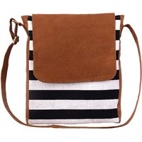 Lychee Bags Jessica Brown Canvas Sling Bag