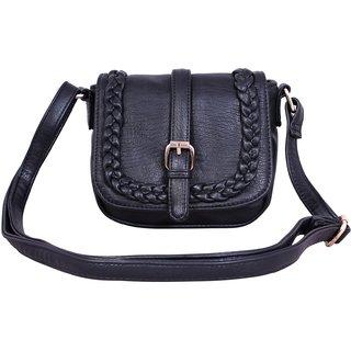 Lychee Bags Elle Black P.U. Sling Bag