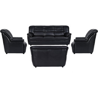 Fabhomedecor - Edo Leatherette 3 + 2 + 1 + 1 Sofa