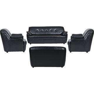 Fabhomedecor - Boston Leatherette 3 + 2 + 1 + 1 Sofa