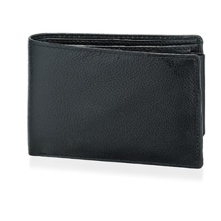 Rico Sordi Mens normal Black wallet(RSMBlack wallet)