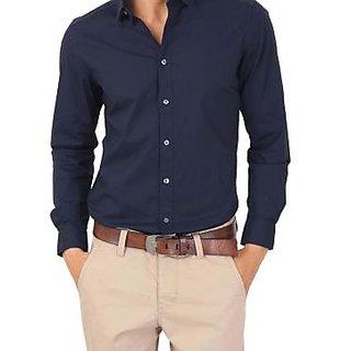 Mens Black Formal Cotten Shirt