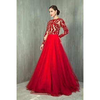 48d10c583d98 Buy Red Designer Party Gown In Net Online   ₹18000 from ShopClues