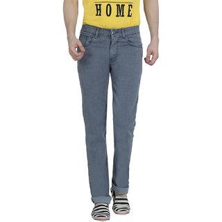 Louppee Light Grey Regular Fit Mens Jeans