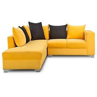 S K Furniture L Shape Sofa Yellow