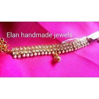 Armlet vanki bajuband pearl polki kundan golden stone bridal jewellery by ELAN