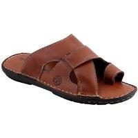 Ventoland MenS Tan Slip-On Sandals (GWVLS-0302)