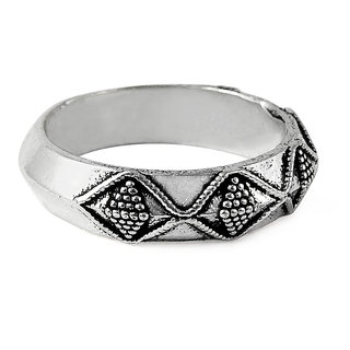 Miska Silver Plain German Silver Ring for Woman  Girls Size-8GRNPS16-1003-14