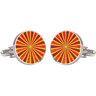 CuffTank Orange Yellow Shaded Abstract Design Cufflinks