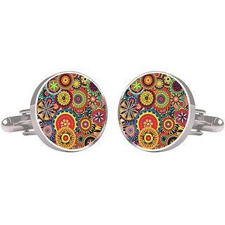 CuffTank Abstract Colourful Circle Cufflinks