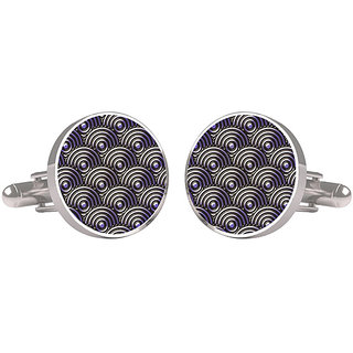 CuffTank Cufflinks Grey Circle Abstract