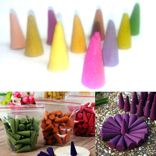 20 Pieces Mix Fragrance Colorful Cone Incense, Scent Incense Potpourri