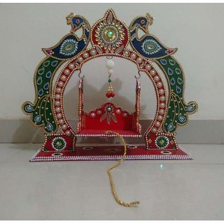 Handmaded Decorated Krishna Jhula
