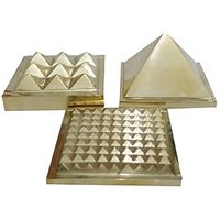 Brass Vastu Pyramid Mulit Layer AAA Quality (Set Of Three) 91 Pyramids In Total