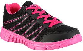 Sparx Women's Black & Pink Sports Shoes