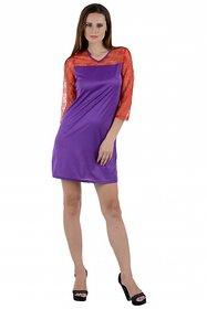Klick2Style Purple Plain Bodycon Dresses For Women