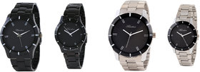 Timebre Exotic Black  Steel Couple Watches -80