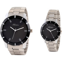 Timebre Exotic Steel Couple Analog Watches -76