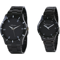 Timebre Royal Black Couple Analog Watches -75